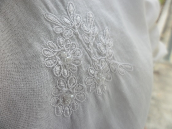Beaded Cotton Top