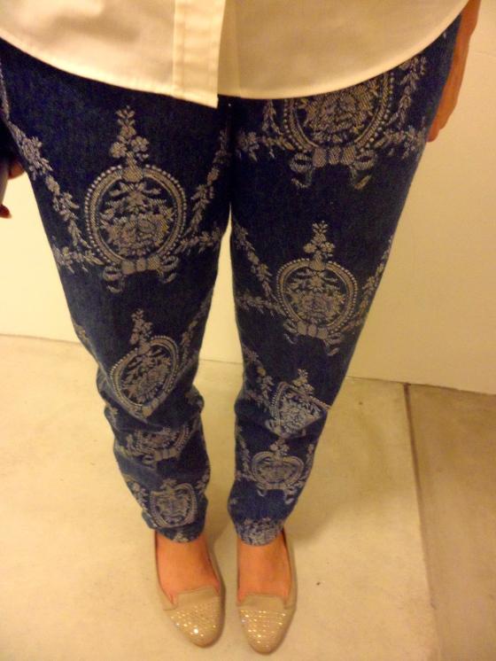 Brocade Print Jeans