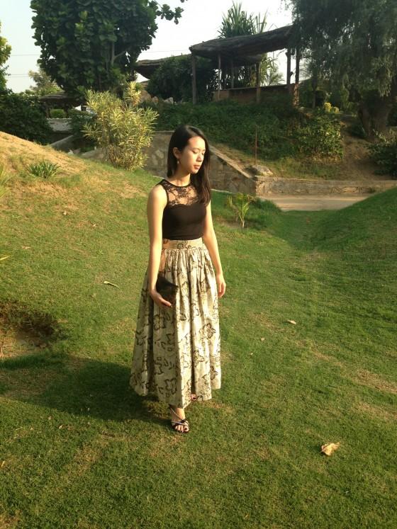 A Gold Skirt