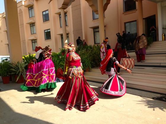 Dancers welcoming Guest