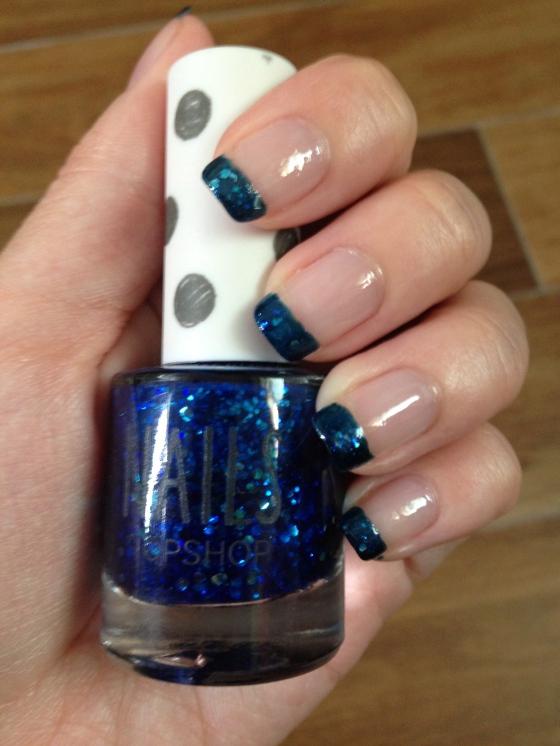 Blue Topshop Sparkles